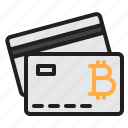 bitcoin, blockchain, card, coin, cryptocurrency, finance, money icon