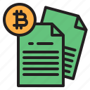 bitcoin, blockchain, coin, cryptocurrency, data, finance, money icon