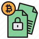 bitcoin, blockchain, coin, cryptocurrency, data, lock, money icon
