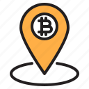 bitcoin, blockchain, coin, cryptocurrency, finance, local, money icon
