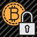 bitcoin, blockchain, coin, cryptocurrency, finance, lock, money