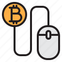 bitcoin, blockchain, coin, cryptocurrency, finance, money, mouse icon