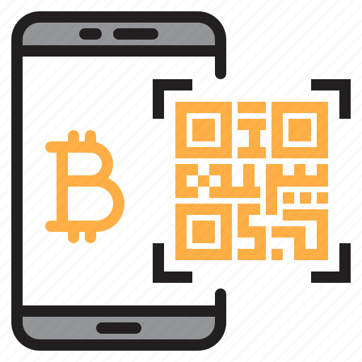 bitcoin, blockchain, code, coin, cryptocurrency, money, qr icon