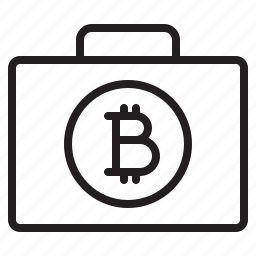 bag, bitcoin, blockchain, coin, cryptocurrency, finance, money icon