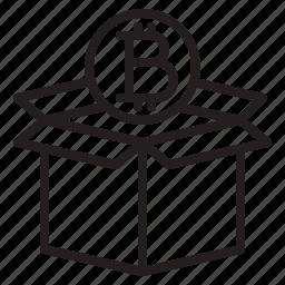 bitcoin, blockchain, box, coin, cryptocurrency, finance, money icon