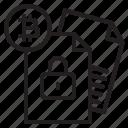 bitcoin, data, lock, blockchain, coin, cryptocurrency, finance