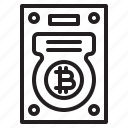 bitcoin, blockchain, coin, cryptocurrency, finance, harddisk, money icon