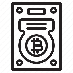 bitcoin, blockchain, coin, cryptocurrency, finance, harddisk, money icon