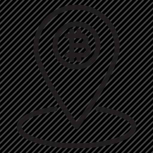 bitcoin, blockchain, coin, cryptocurrency, finance, local, money icon