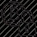 bitcoin, lock, blockchain, coin, cryptocurrency, finance, money