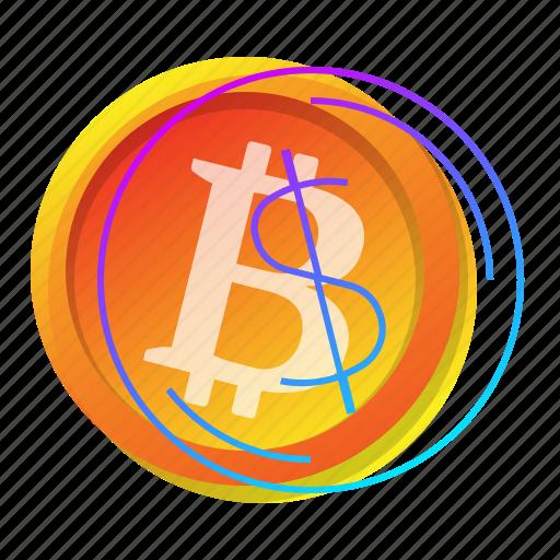 bitcoin, dollar, exchange, sign icon