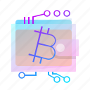 bitcoin, crypto, currency, wallet icon