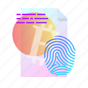 accept, fingerprint, policy, sheet icon