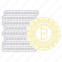 bicoin, bitcoin, cash, cryptocurrency, digital, technology icon