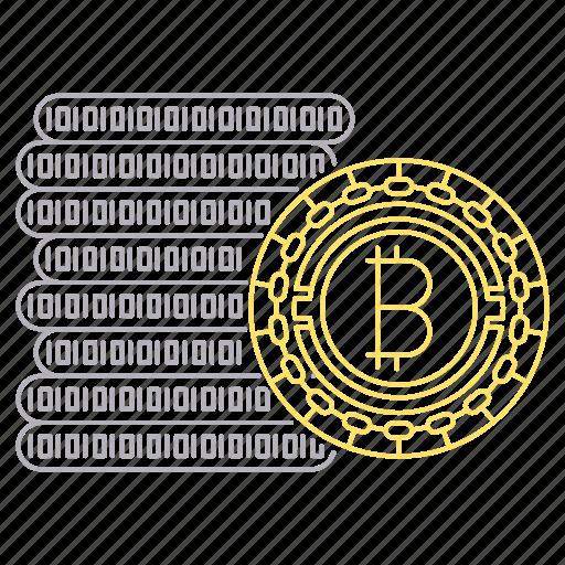 bicoin, bitcoin, cash, cryptocurrency, digital, technology icon
