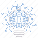 bitcoin, cryptocurrency, digital, idea, security, technology icon