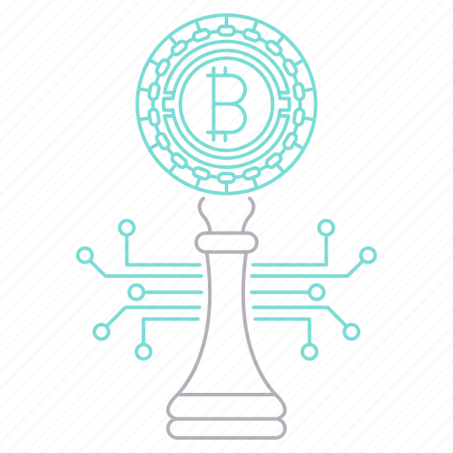 bitcoin, cryptocurrency, digital, strategy, technology icon