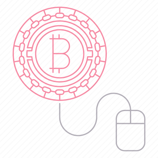 bitcoin, click, cryptocurrency, digital, technology, worker icon