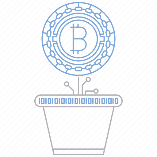 bitcoin, cryptocurrency, digital, investment, technology icon