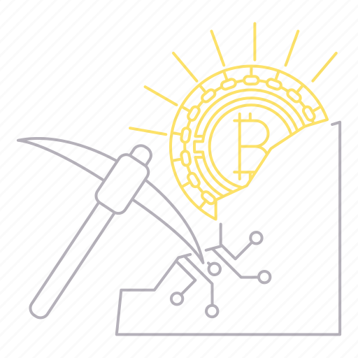 bitcoin, cryptocurrency, digital, mining, technology icon