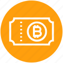 bitcoin, document, ecommerce, invoice, receipt, ticket, voucher icon
