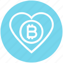bitcoin, cryptocurrency, favorite, heart, like, love, rate