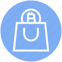accept, bag, bitcoin, buy, cryptocurrency, income, shopping icon