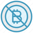 ban, bitcoin, blockchain, coin, cryptocurrency, digital currency, money icon