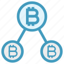 bitcoin, blockchain, connect, cryptocurrency, cryptocurrency and social media, network, share icon
