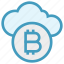 bitcoin, blockchain, cloud, cloud computing, crypto, currency, money icon