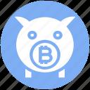 bitcoin, blockchain, cryptocurrency, digital currency, money, piggybank, savings