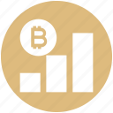 analytics, bitcoin, chart, coin, cryptocurrency, graph, seo icon