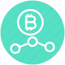 bitcoin, connection, cryptocurrency, money, network, seo, social icon