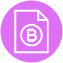 bitcoin paper, blockchain paper, coin, cryptocurrency ico paper, cryptocurrency paper, document, paper icon