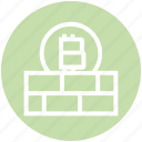 bitcoin, blockchain, brick, cryptocurrency, digital money, protect, wall
