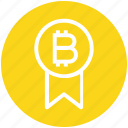 award, badge, bitcoin, cryptocurrency, investment, medal, prize