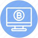 bitcoin, display, lcd, lcd monitor, monitor, screen, television