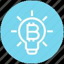 bitcoin, bulb, cryptocurrency, idea, innovation, light, light bulb