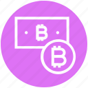 bitcoin, bitcoin note, cash and coin, coin, cryptocurrency, currency note, money icon