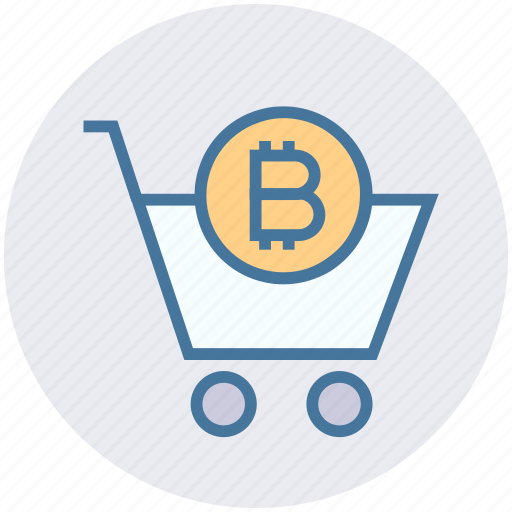 basket, bitcoin, buy, cart, crypto, shopping, shopping cart icon