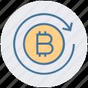 bitcoin, blockchain, exchange, online, sync, transaction, transfer icon