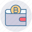 bitcoin, blockchain, crypto, digital wallet, money, savings, wallet icon