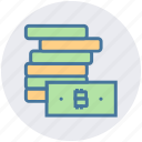 bitcoin, blockchain, cash, currency, dollar, money, notes icon