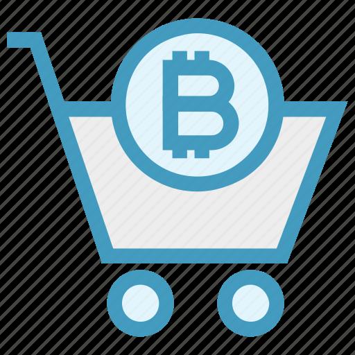basket, bitcoin, buy, cart, crypto, shopping, shopping cart icon