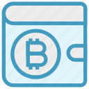 bitcoin, blockchain, crypto, digital wallet, money, savings, wallet icon