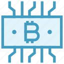 bitcoin, blockchain, currency, dollar, money, note, system icon