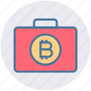 bag, bitcoin, bitcoin related business, bitcoin related company, bitcoin related job, briefcase, cryptocurrency business icon