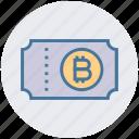 bitcoin, document, ecommerce, invoice, receipt, ticket, voucher icon