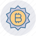bitcoin, buy, coin, digital wallet, payment, sale, sign icon