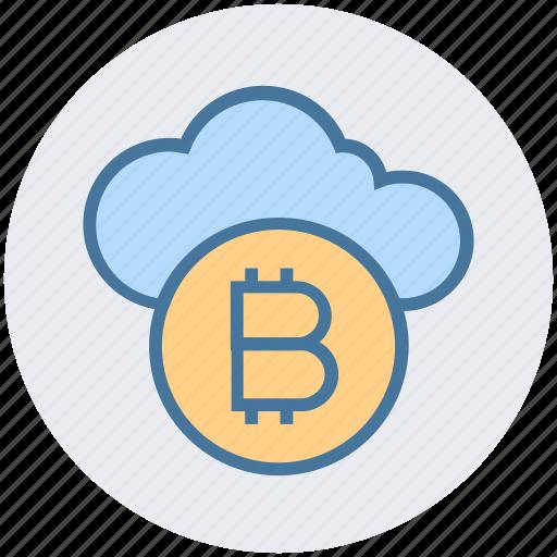 bitcoin, blockchain, cloud, cloud computing, crypto, currency, money icon